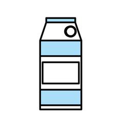 Mil box juice beverage vector