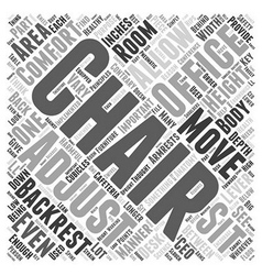 Office chair anatomy word cloud concept vector
