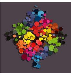 Rainbow circle background diamond shape vector