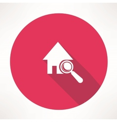 Search house icon vector image