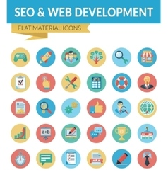 Seo web development vector