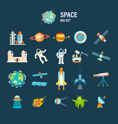 space transport planets and related objects vector image