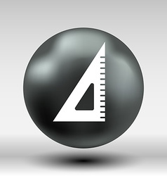 The ruler triangle icon button logo symbol concept vector image