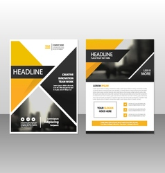 Yellow black annual report Leaflet Brochure vector image