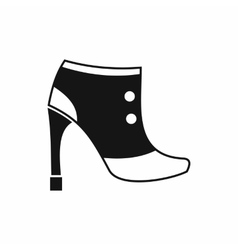 Women boots icon simple style vector