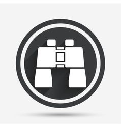 Binocular sign icon search symbol vector