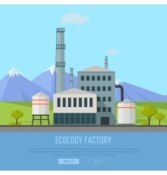Ecology factory banner vector
