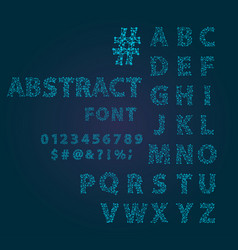 font space alphabet typeface script with minimal vector image