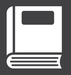 Book solid icon education and school vector