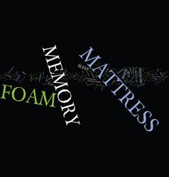 Foam mattress memory text background word cloud vector