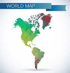 Western hemisphere globe bright map vector