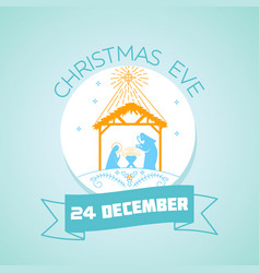 24 december christmas eve vector image vector image