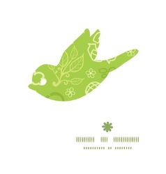 Environmental bird silhouette pattern frame vector