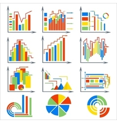 Infographics set elements chart circles vector