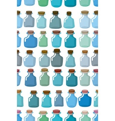 Magic glass empty bottle seamless pattern vector