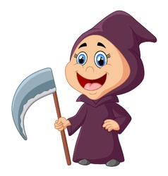 Little boy with halloween costum vector