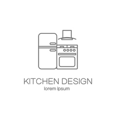 Kitchen logo design templates vector