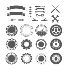 Set of logotype element for mechanic garage car vector