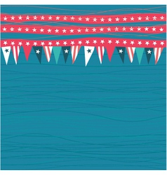 Vintage background with flags vector image