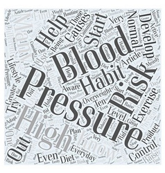 Are you at risk for high blood pressure word cloud vector