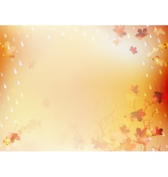 Autumnal Background with maple leaves EPS 10 vector image vector image
