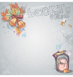 Background image for text with bells autumn vector
