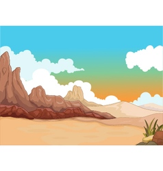 Beauty desert with landscape background vector