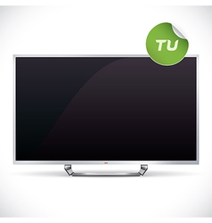 Black glossy lcd tv vector