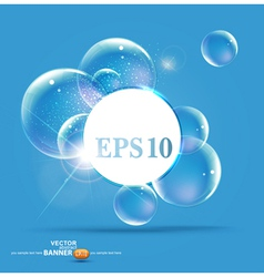 bubbles on a blue background vector image vector image