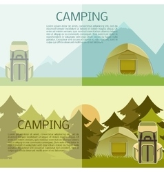 Camping banner vector image