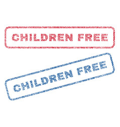 children free textile stamps vector image