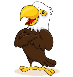 Eagle cartoon posing vector image vector image