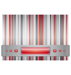 Gray and red background vector image