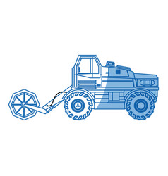 Harvesting agriculture vehicle concept - vector
