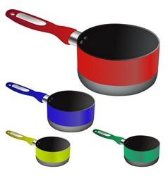 kitchen pots vector image vector image