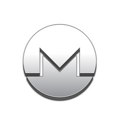 Monero coin trendy 3d style icon vector
