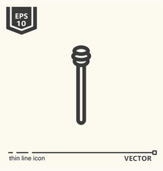 One icon - honey dipper vector