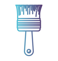 paint brush icon gradient color silhouette from vector image vector image