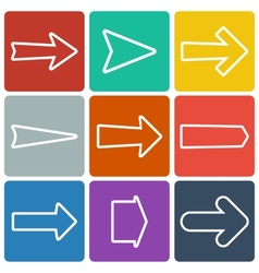Set of colorful flat arrows vector