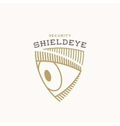 Shield Eye Security Abstract Sign Symbol vector image