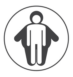 skinny and fat icons overlap on white background vector image vector image