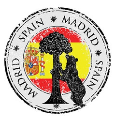 Spain stamp vector image vector image