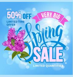 Spring sale vector
