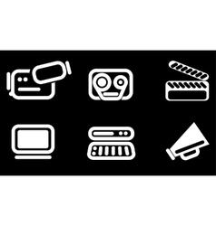 Video icon set vector