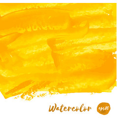 Yellow golden watercolor texture vector