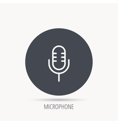 Retro microphone icon karaoke sign vector