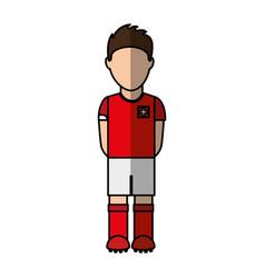 switzerland team player soccer vector image