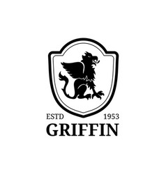 Griffin logo template luxury crest vector