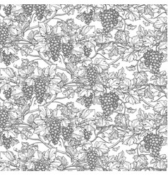 Seamless pattern with vine vector