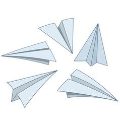 cartoon paper planes vector image